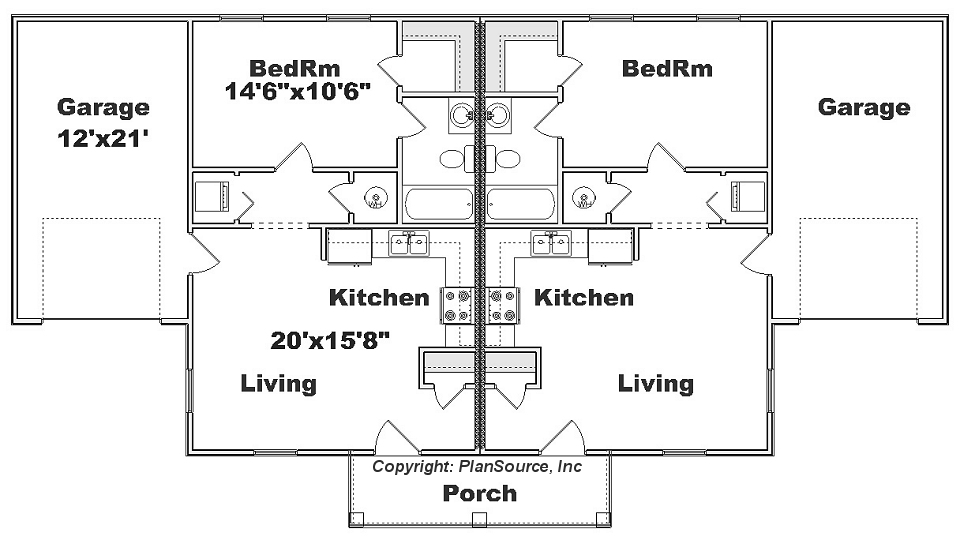 J0129-14d-2, Duplex floor plan