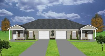 2 bedroom duplex plan garage per unit j0222 13d 2 for Cost to build a fourplex