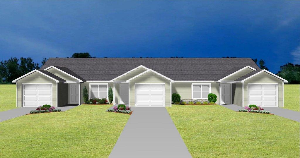 Duplex plans house plans and apartment plans plansource inc for One story apartments
