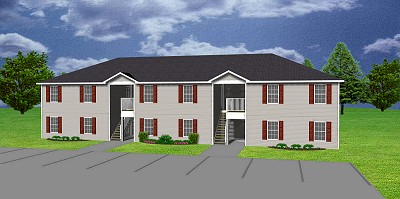 6 unit apartment plan, J0418-11-6