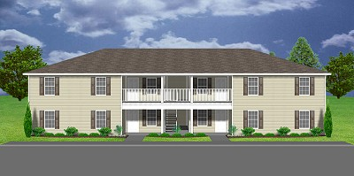 Apartment plan j1031 4 11 plansource inc for Cost to build a fourplex