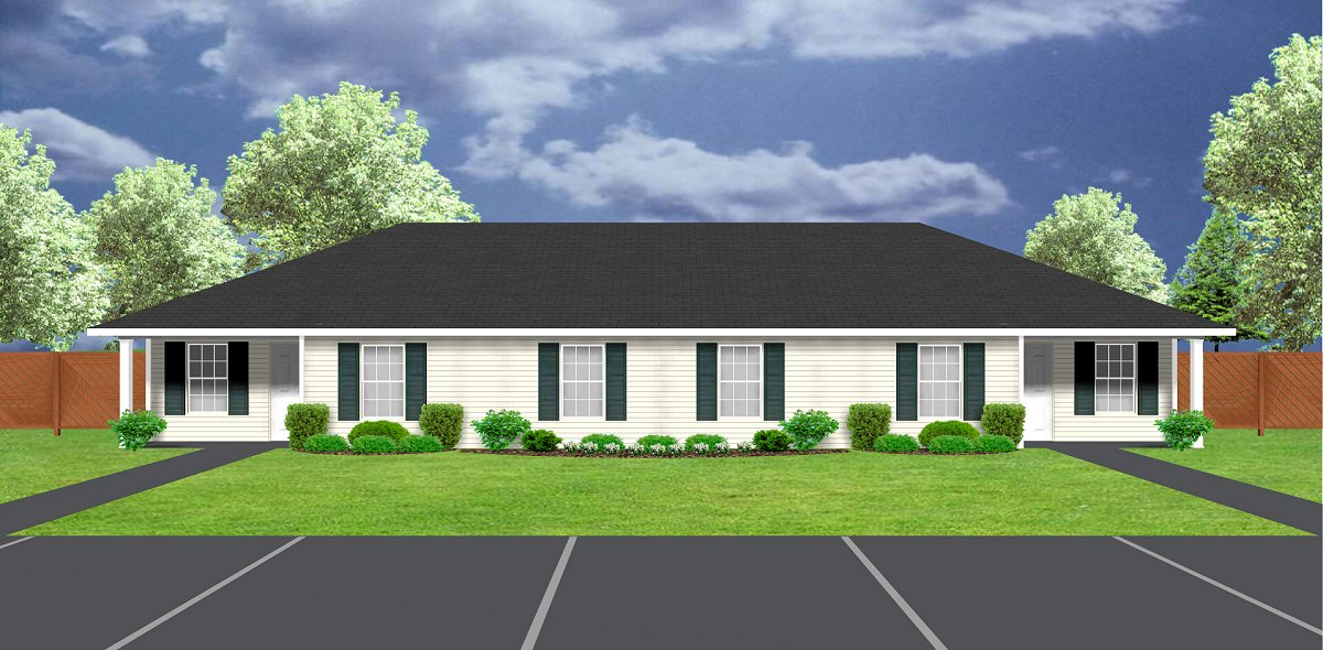 J1031d-30, duplex house plan