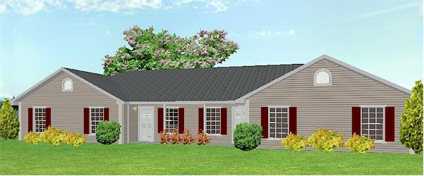 J1031d-L, duplex house plan