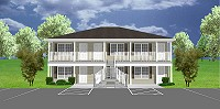 J1103-11-6. Our most popular 6-unit apartment design.