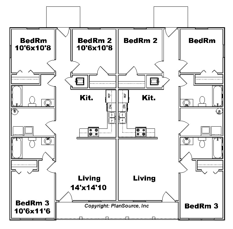 duplex J1138d Floor plan
