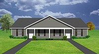 J1209-10d, duplex design with garage