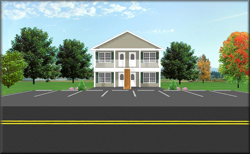 Fourplex plan j1828 4 plansource inc Fourplex apartment plans