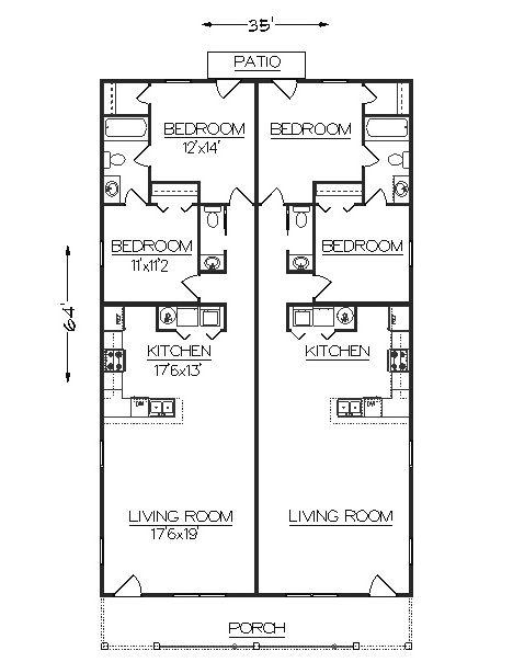 Duplex J2030d Plansource Duplex Plans