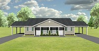 Duplex plan with carport