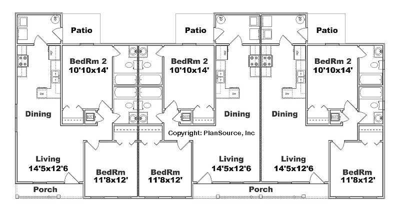 Triplex Plan J891t Plansource Inc