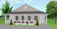Duplex plan for narrow lots - J925d Rendering